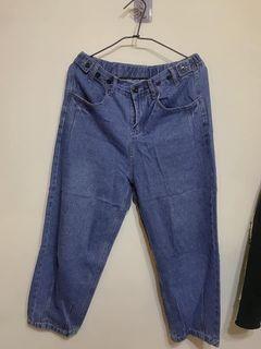 韓版牛仔褲可調鬆緊