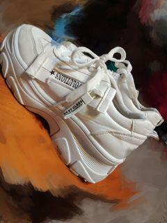 韓版白色老爹鞋  #LoveIsLove