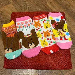 小熊學校襪子 🧦 短襪