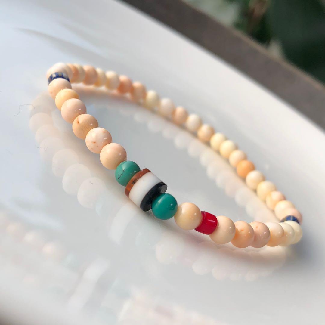 珍珠 #紅珊貝 #綠松 #琉璃
