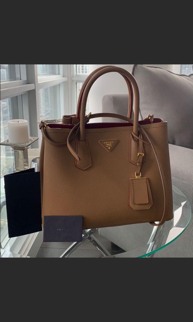 Authentic Prada Saffiano Double Bag Medium Purse