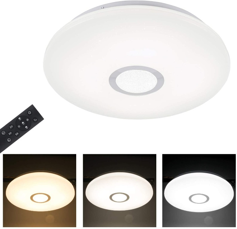 Bathroom Led Ceiling Light T Sun φ40cm 24w Dimmable Led Ceiling Lamp With Remote Control Night Light Function 1680lm Flush Mount Ceiling Light For Living Room Office Hallway 3000k 6000k Electronics Others On Carousell