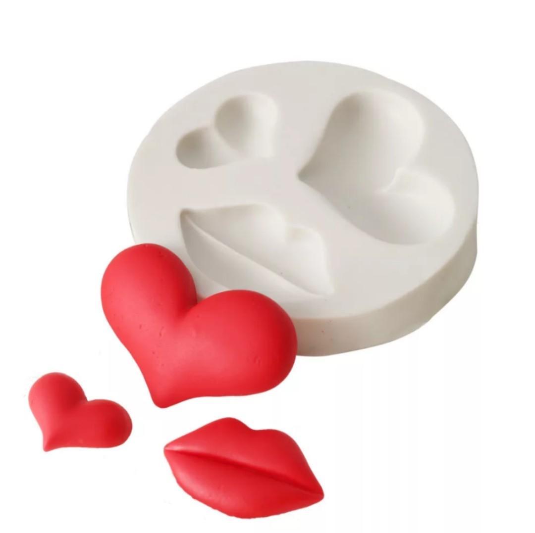 Brand New Heart & Lip Silicone Mold