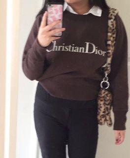 brown vintage dior sweatshirt