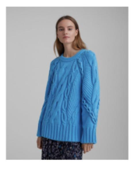 Club Monaco Oversized cable crew sweater. Size: Small
