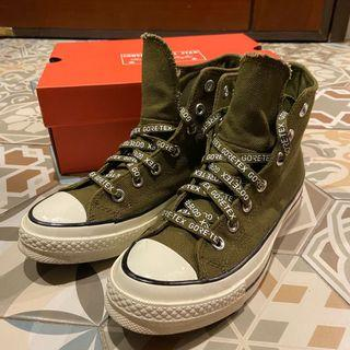 Converse GORE-TEX 軍綠色防水帆布鞋 24CM