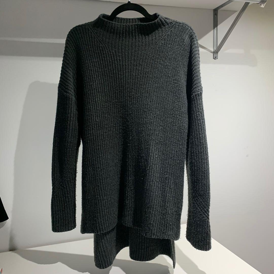 Forever 21 long grey knit sweater