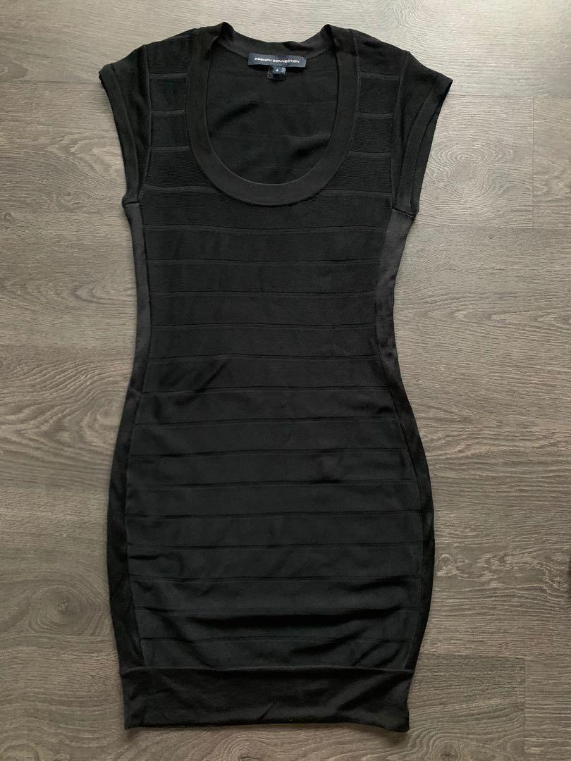French connection black dress size 4 6 small medium