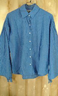 Kemeja LOGO stripe biru