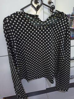 The executive baju wanita polkadot hitam