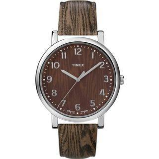 timex 天美時 天然木紋造型錶