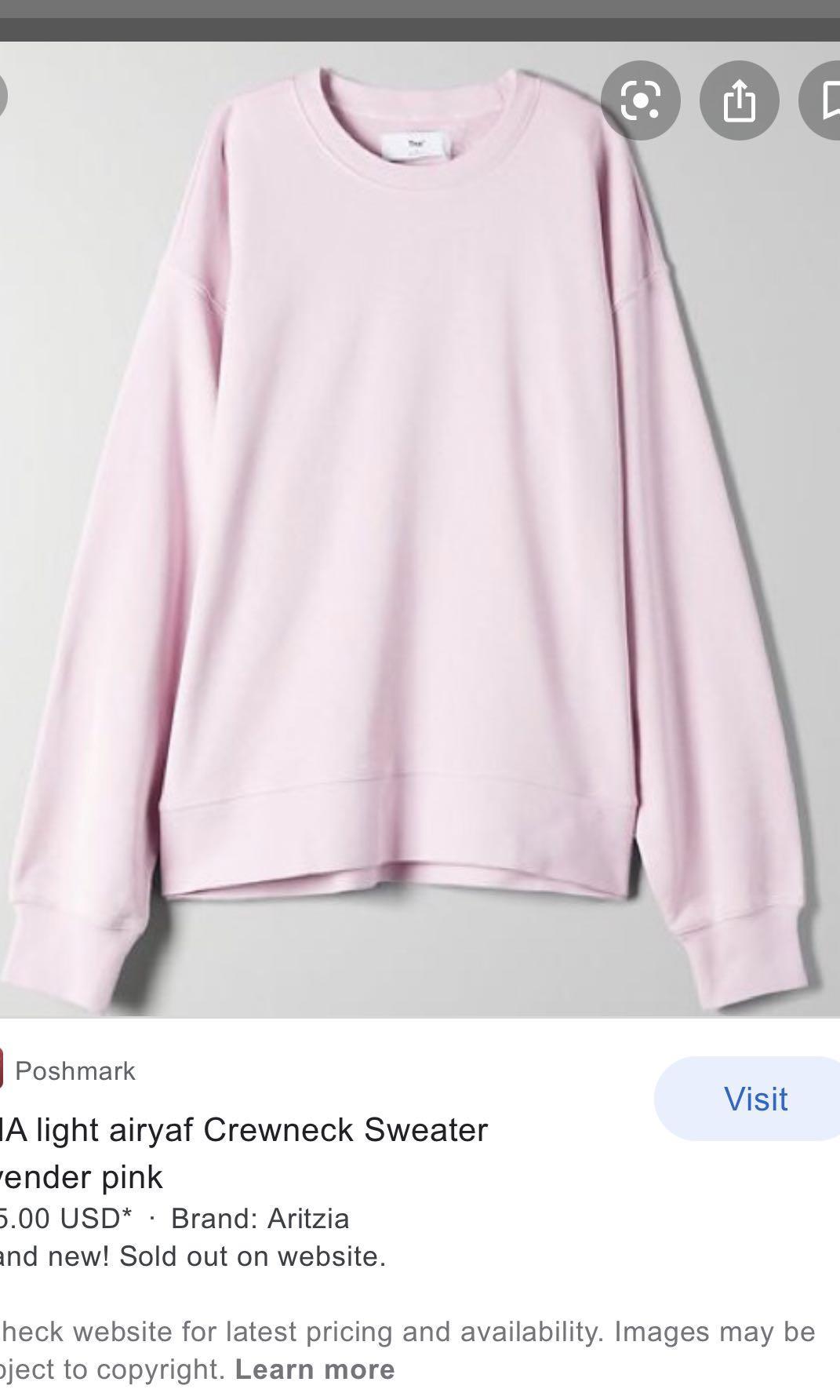 Tna lavender pink sweatshirt light