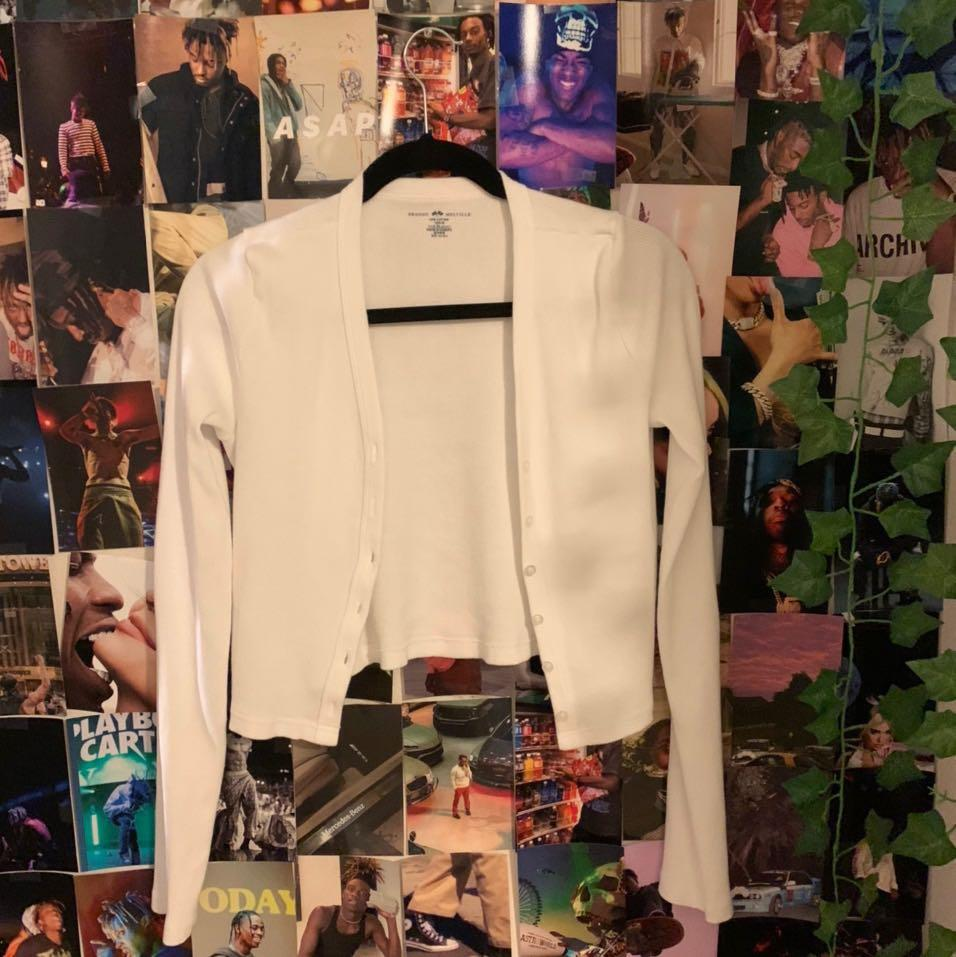 white brandy cardigan 🤍