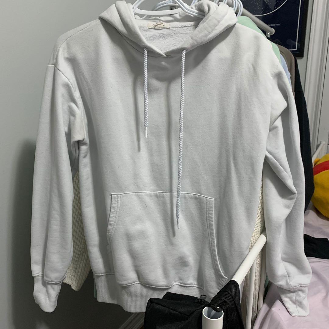 white garage hoodie