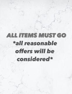 ALL ITEMS MUST GO