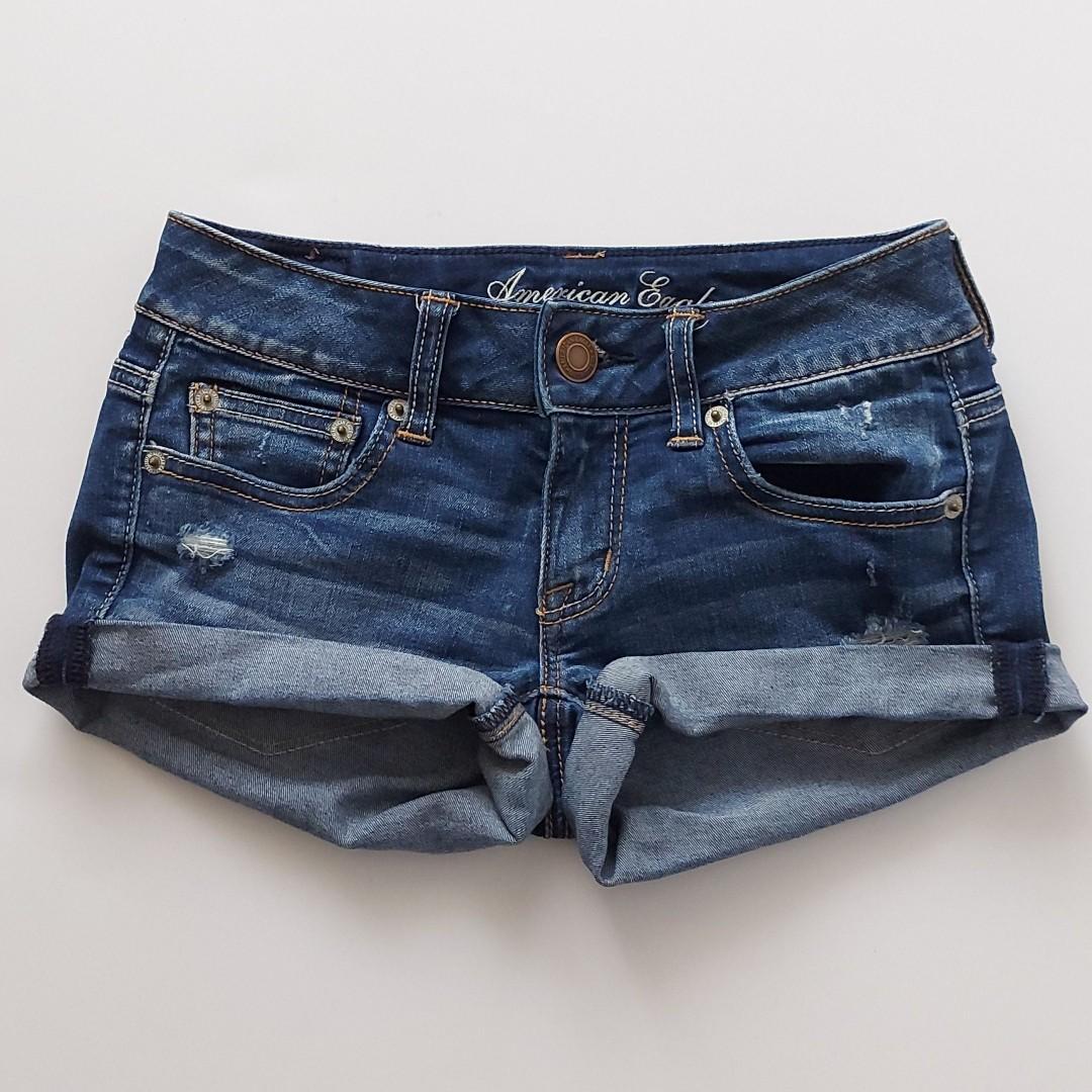 American Eagle super stretch jean shorts sz 00