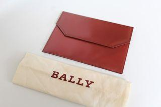 Authentic Bally Red Clutch