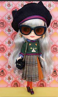 Blythe doll Ailurophile style