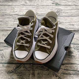 Converse run star 厚底帆布鞋