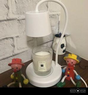 {麋鹿家居}ELK HOME現貨!快速出貨!把關品質 保固半年-白色簡約鐵製底座 香氛燈 融蠟燈 融燭燈(附二個燈炮)
