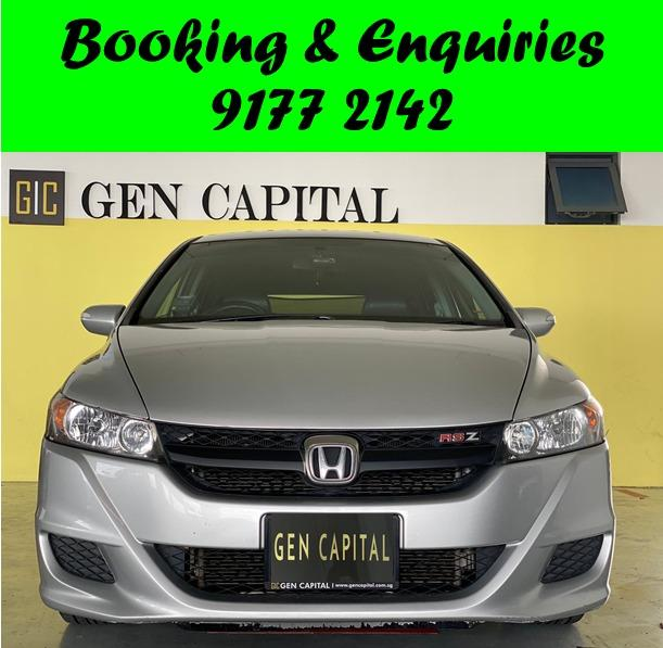 Honda Stream RSZ. *GRAB/PERSONAL* Available 22/01/2021. PHV/PERSONAL/GRAB/Ryde/GOJEK/PARCEL DELIVERY .$500 deposit only. Whatsapp 9177 2142 to reserve.Cheap Car Rental. Cheap Car. Budget car.