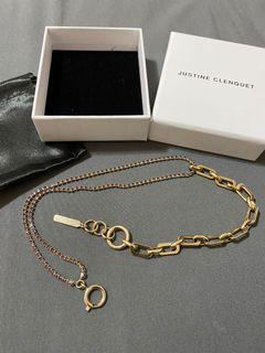 Justine Clenquet silver & gold jean choker necklace