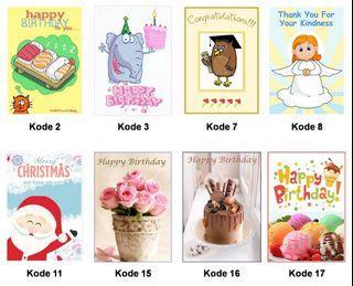Kartu ucapan handmade dari anak anak yayasan dutasia