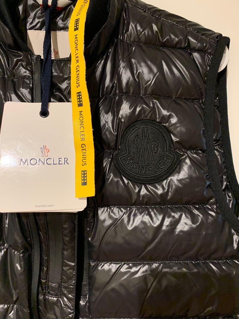 MONCLER GENIUS VEST IN BLACK DOWN FILLED BRAND NEW MADE IN FRANCE