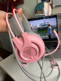 Pink headphone fantech hg20