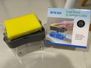 Soap Pump & Sponge Caddy
