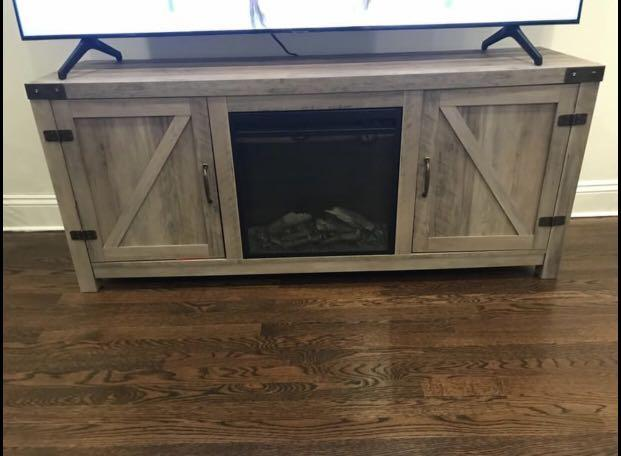 Tv Stand & electric fireplace