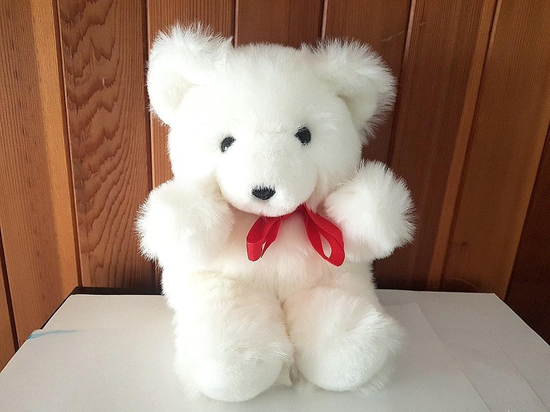 White Valentine's Bear