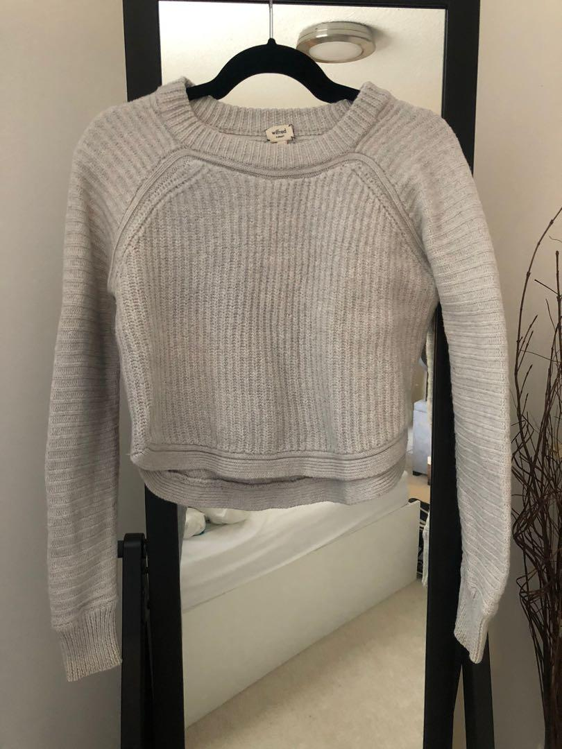 Wilfred light grey cropped sweater