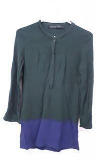 #MaretSale Zara Green & Blue Blouse