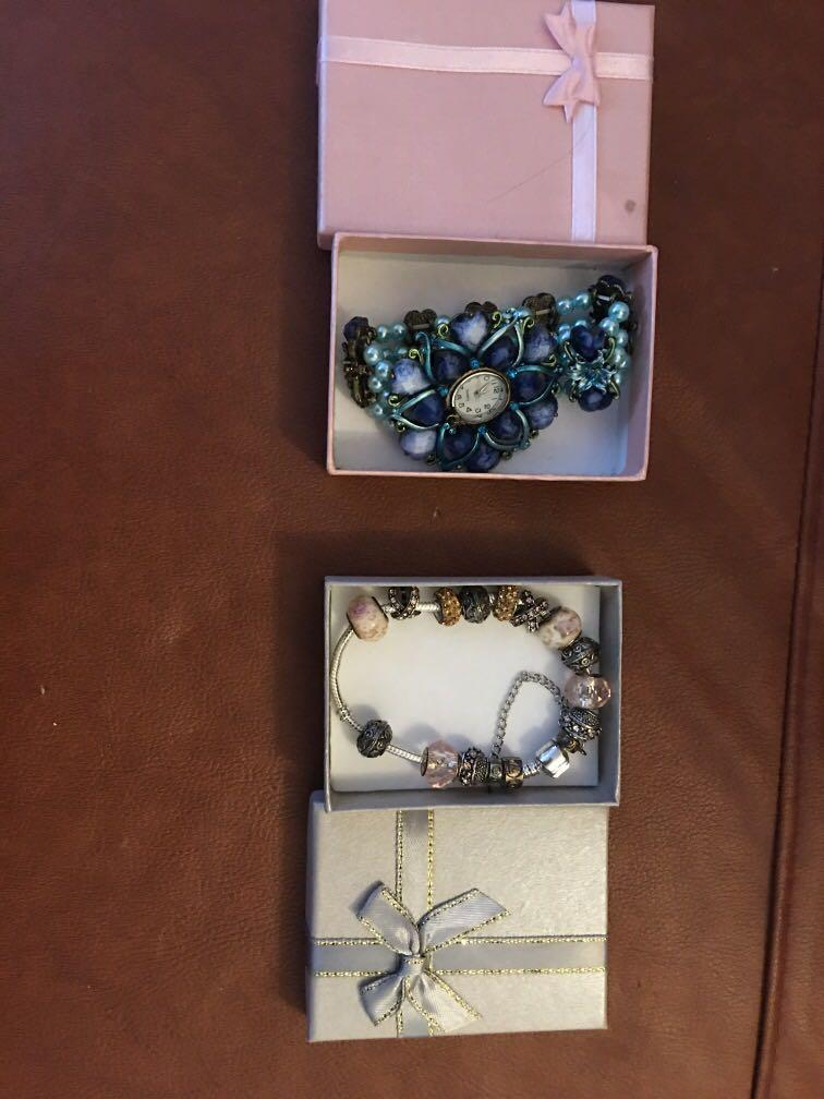 10$ each,Beautiful Bracelet and fancy watch( not working)