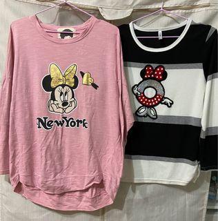 #米奇#正韓。薄上衣 粉色、黑白條紋2款
