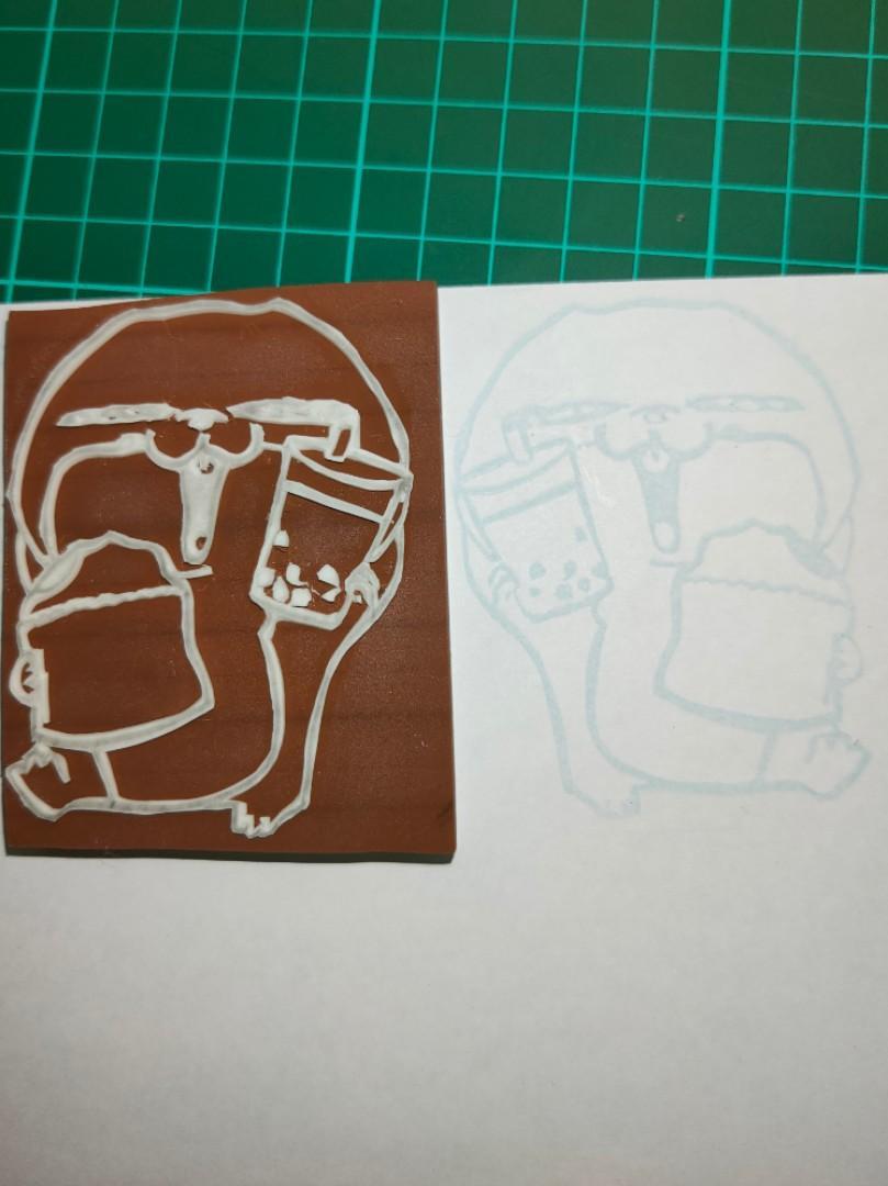 好想兔 手工雕刻橡皮印章