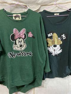 正韓#米奇 綠色、深綠、上衣 2款