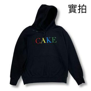 二手美品- CAKE - Rainbow Hoodie - BLACK XL 帽TEE