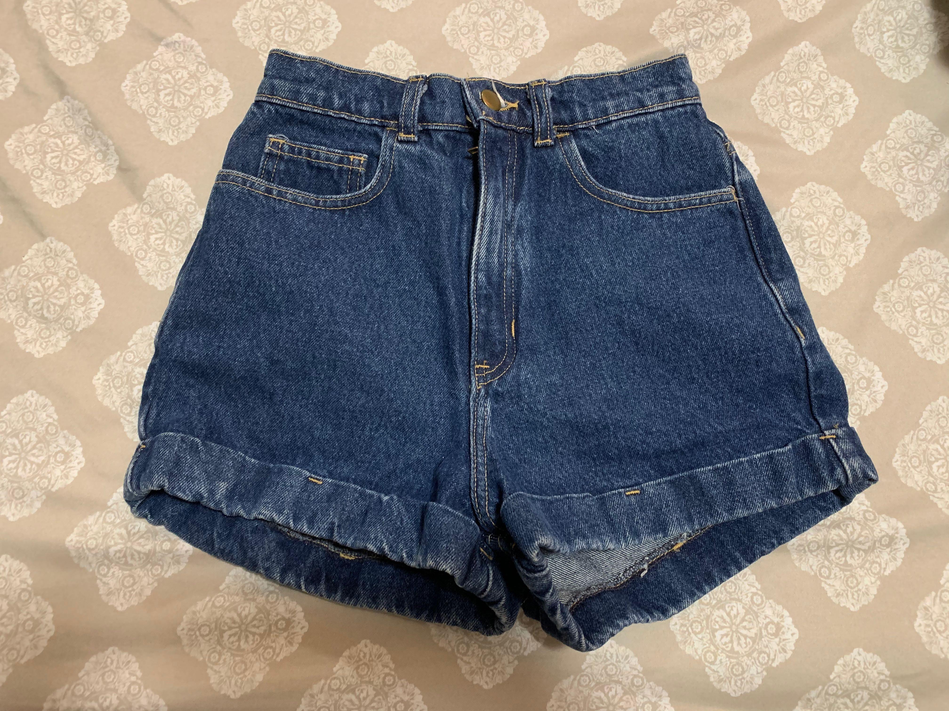 AA High Waisted Jean Shorts