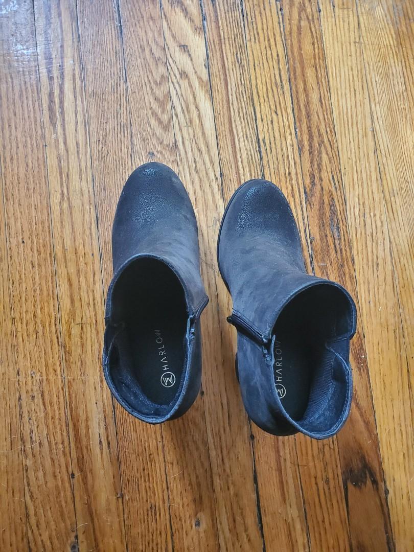 Harlow heeled booties- $15