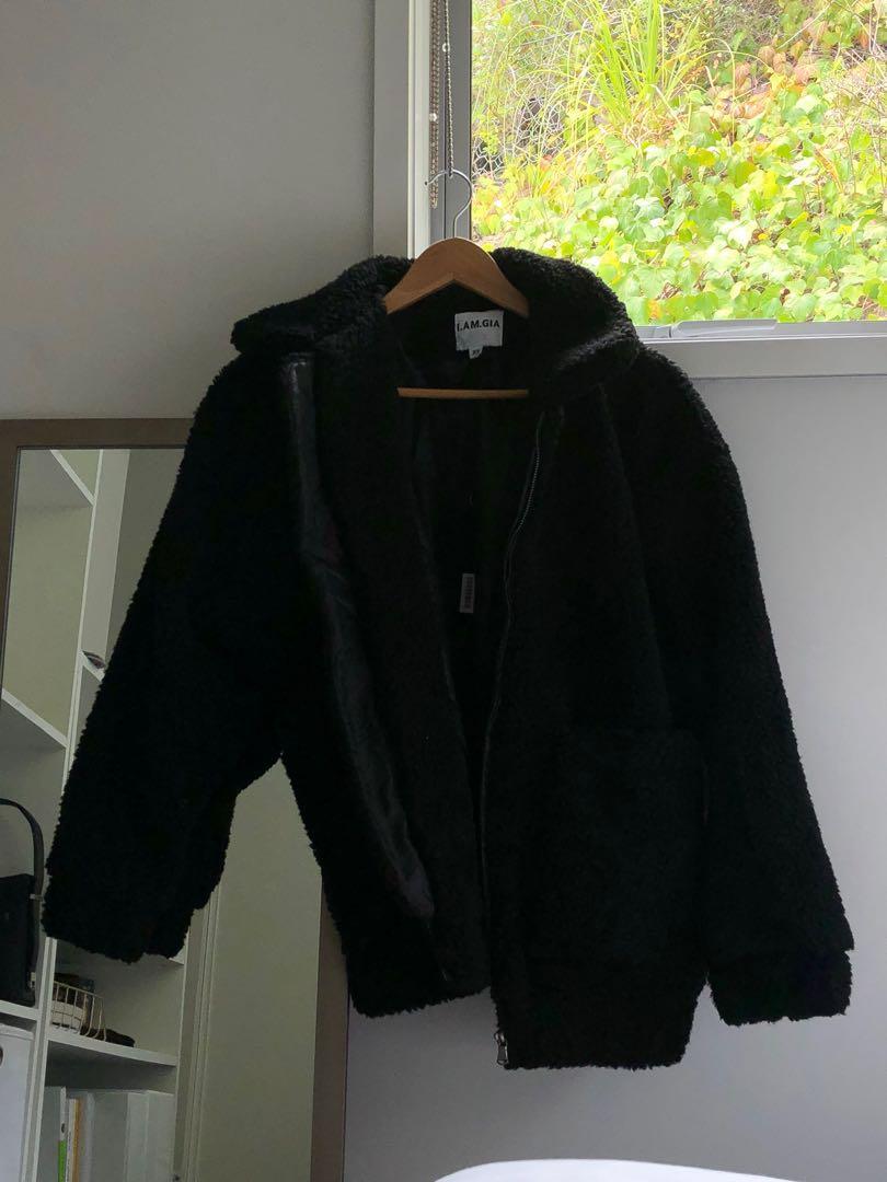 I.AM.GIA pixie coat in black