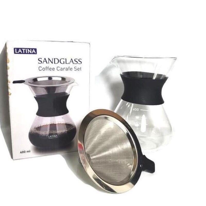 Latina V60 Sandglass Coffee Carafe Set