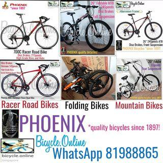 PHOENIX Bicycles from $249! Brand new. *Ready stocks for immediate view, feel and deal!