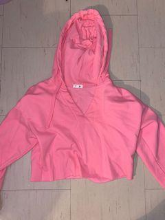 Pink Garage Cropped Sweater