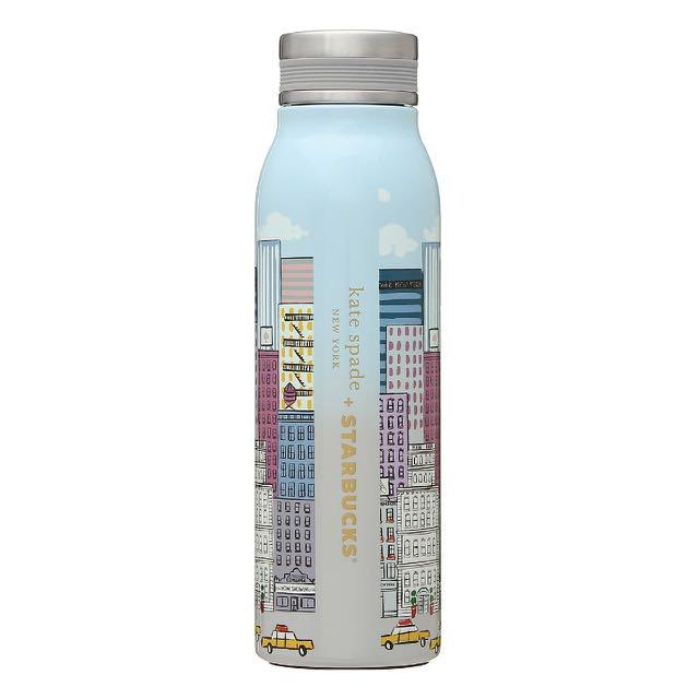 STARBUCKS X KATE SPADE NEW YORK City Space Water Bottle Tumbler Grande 450ml (Blue)