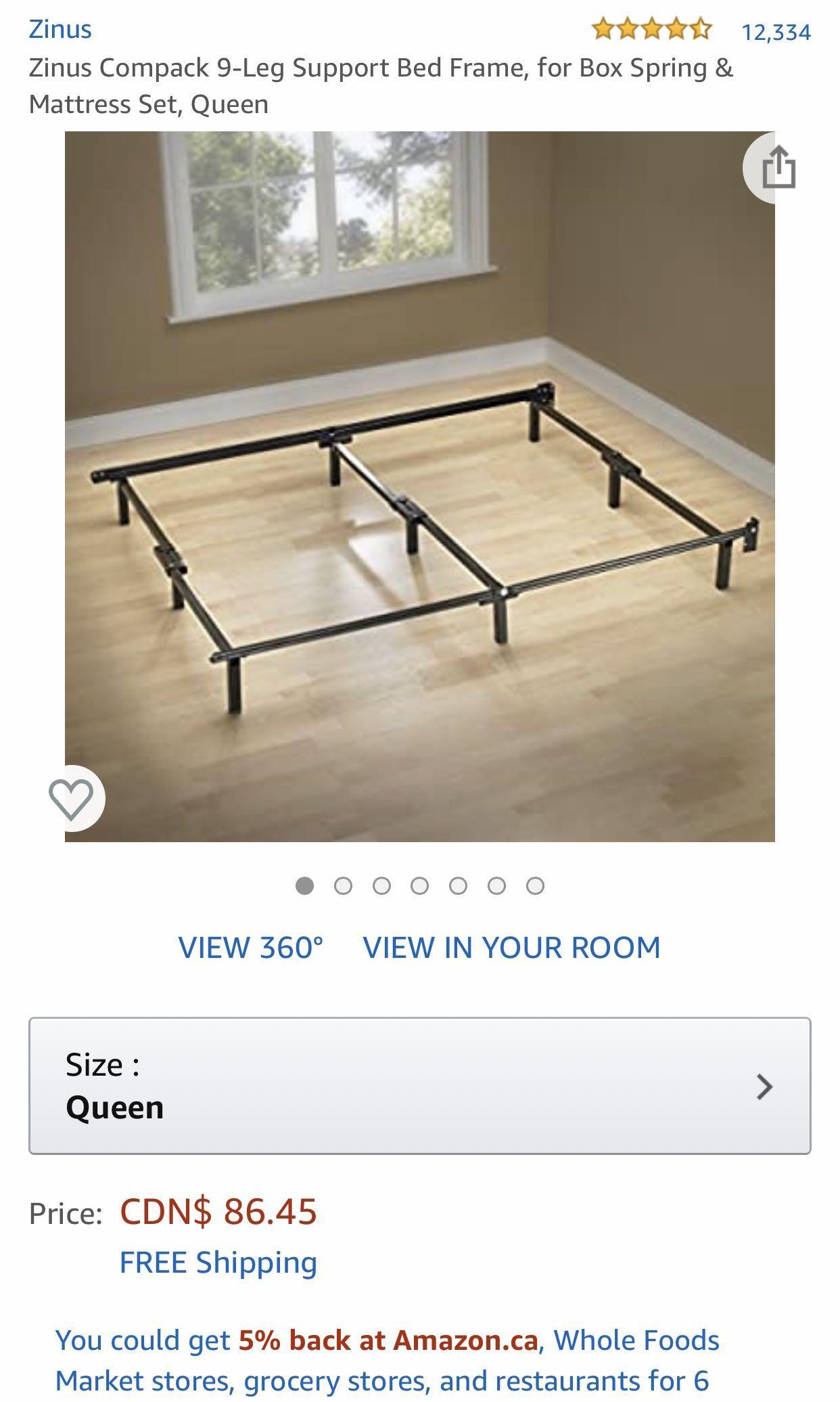9 legged sturdy Bed frame