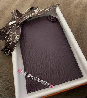 🎀全新 Hermes 愛馬仕Tarmac passport holder 59 葡萄紫色(現貨)