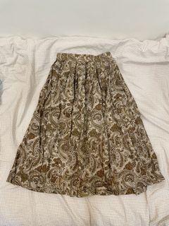 古著 專櫃Joan變形蟲百摺 鬆緊裙