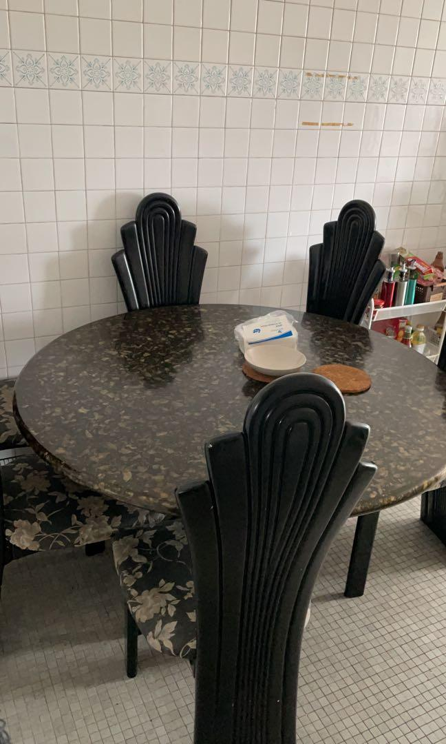 Antique Dining Table Chair Furniture Tables Chairs On Carousell